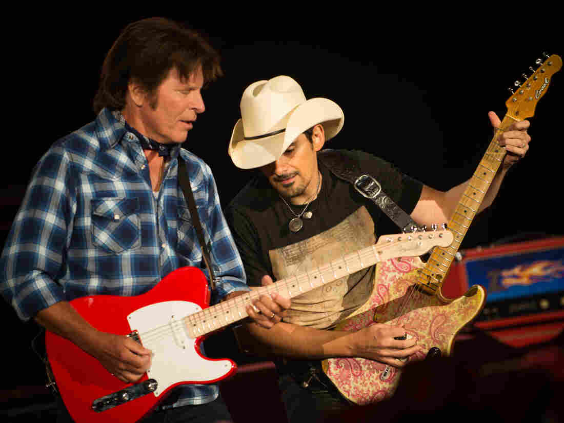 """John Fogerty teams up with Brad Paisley, whom he calls one of the greatest guitarists alive, in """"Hot Rod Heart"""" on his new album, Wrote a Song for Everyone."""