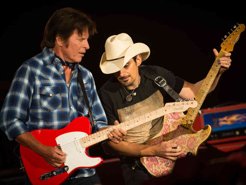 "John Fogerty teams up with Brad Paisley, whom he calls one of the greatest guitarists alive, in ""Hot Rod Heart"" on his new album, Wrote a Song for Everyone."