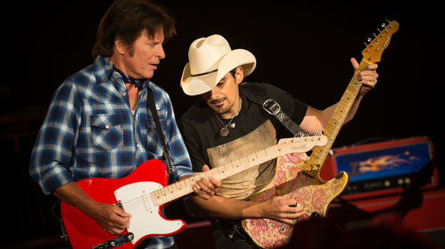 "John Fogerty teams up with Brad Paisley, whom he calls one of the greatest guitarists alive, in ""Hot Rod Heart"" on his new album, Wrote a Song for Everyone. (Courtesy of the artist)"