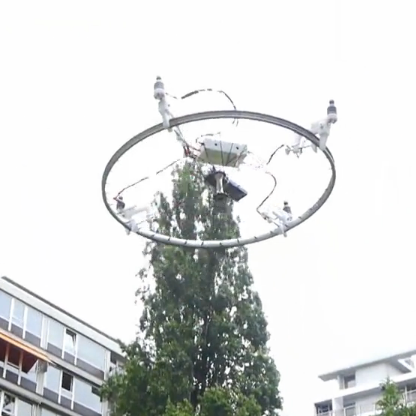 Drone It Yourself bicycle wheel.