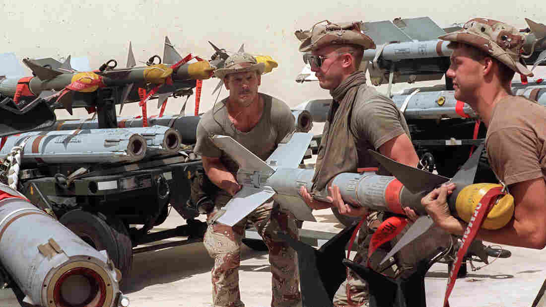 U.S. forces transfer a missile for a fighter plane as the military prepared for war in Iraq, in Saudi Arabia in 1990. American presidents have been calling on the military frequently since the end of the Cold War more than two decades ago.