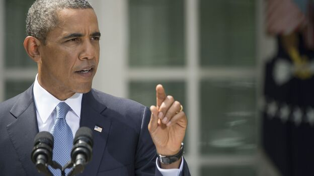 President Obama speaks about Syria from the Rose Garden at the White House on Saturday. (AFP/Getty Images)