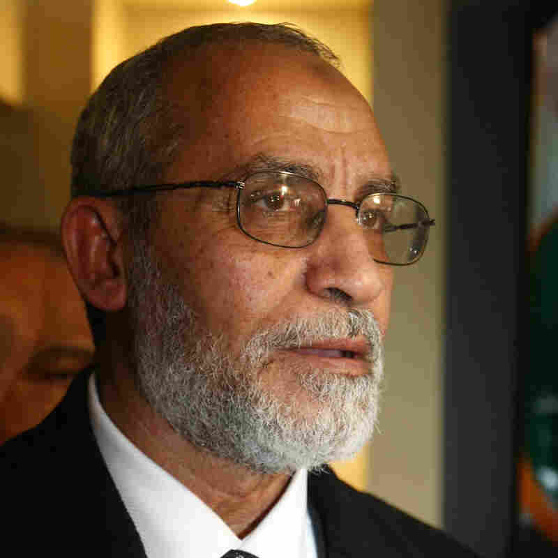 Mohammed Badie, the leader of Egypt's Muslim Brotherhood, at the group's headquarters in Cairo in January 2010.