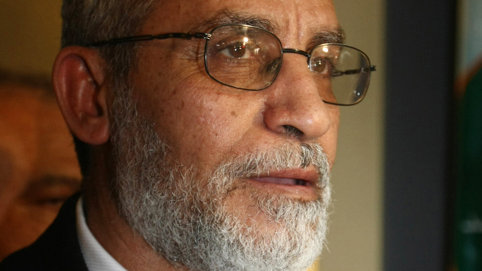 Mohammed Badie, the leader of Egypt's Muslim Brotherhood, at the group's headquarters in Cairo in January 2010. (AFP/Getty Images)