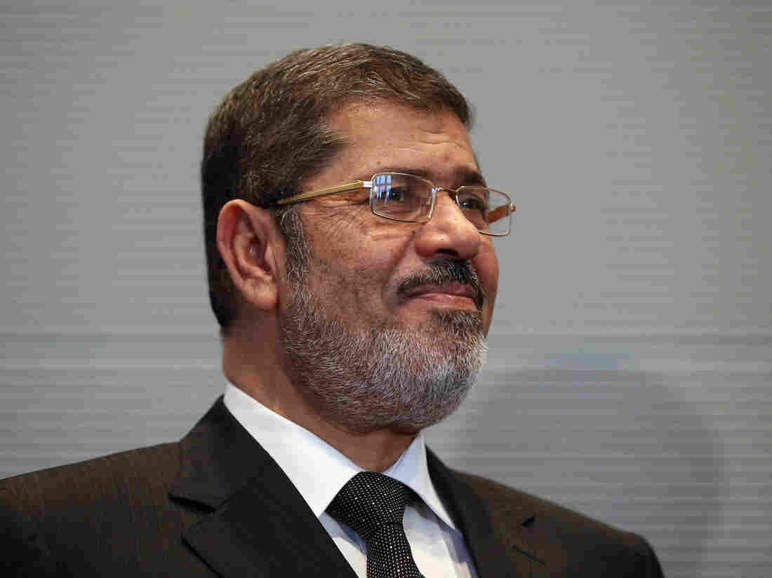 Mohammed Morsi in January of this year. He's been in custody since his ouster in July.