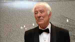 Irish poet Seamus Heaney is pictured in 2010.