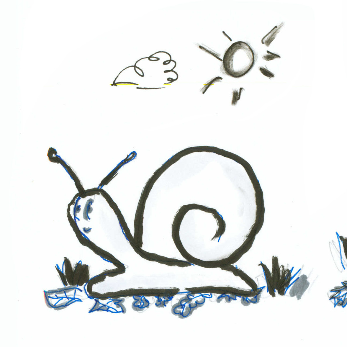 Three snails
