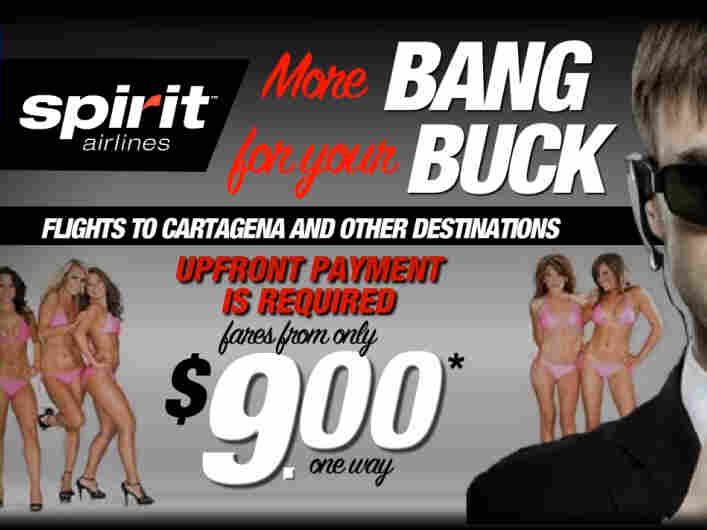 Spirit Airlines has gotten notice — and criticism — for its racy ads.