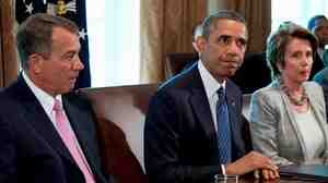 President Obama met with more than a dozen lawmakers, including House Speaker John Boehner and House Minority Leader Nancy Pelosi, at the White House on Tuesday to press his case for a military strike in Syria.
