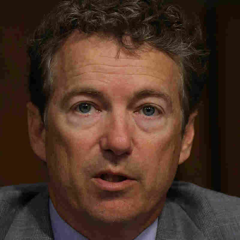Sen. Rand Paul, R-Ky., at Wednesday's Senate Foreign Relations Committee vote on the Syria resolution.