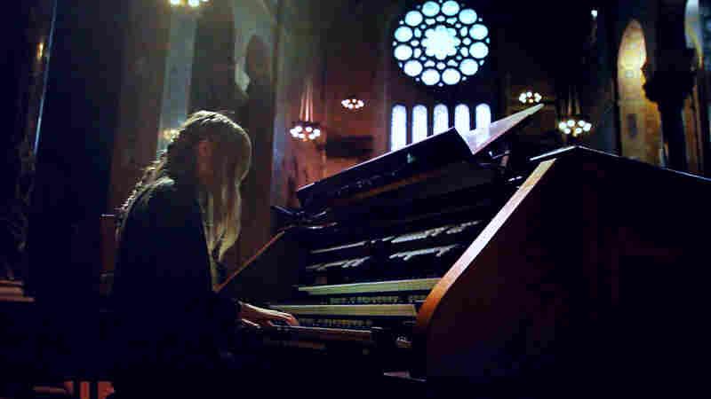 Anna von Hausswolff Field Recordings video shoot at Christ Church New York City