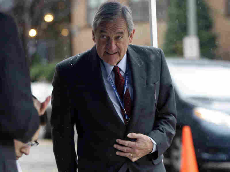Rep. Rick Nolan, D-Minn., arrives to register for orientation as newly elected members of Congress descend on Capitol Hill on Nov. 13, 2012.