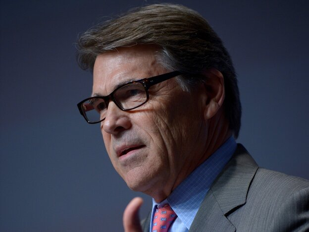 Texas Gov. Rick Perry, pictured last month in Orlando, Fla., has said the T