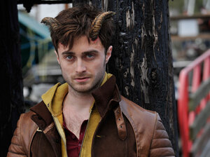 Daniel Radcliffe has horns in the film ... Horns.