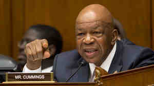 Rep. Elijah Cummings, D-Md., gestures as he speaks in an Oversight Committee hearing on Capitol Hill in May 22.