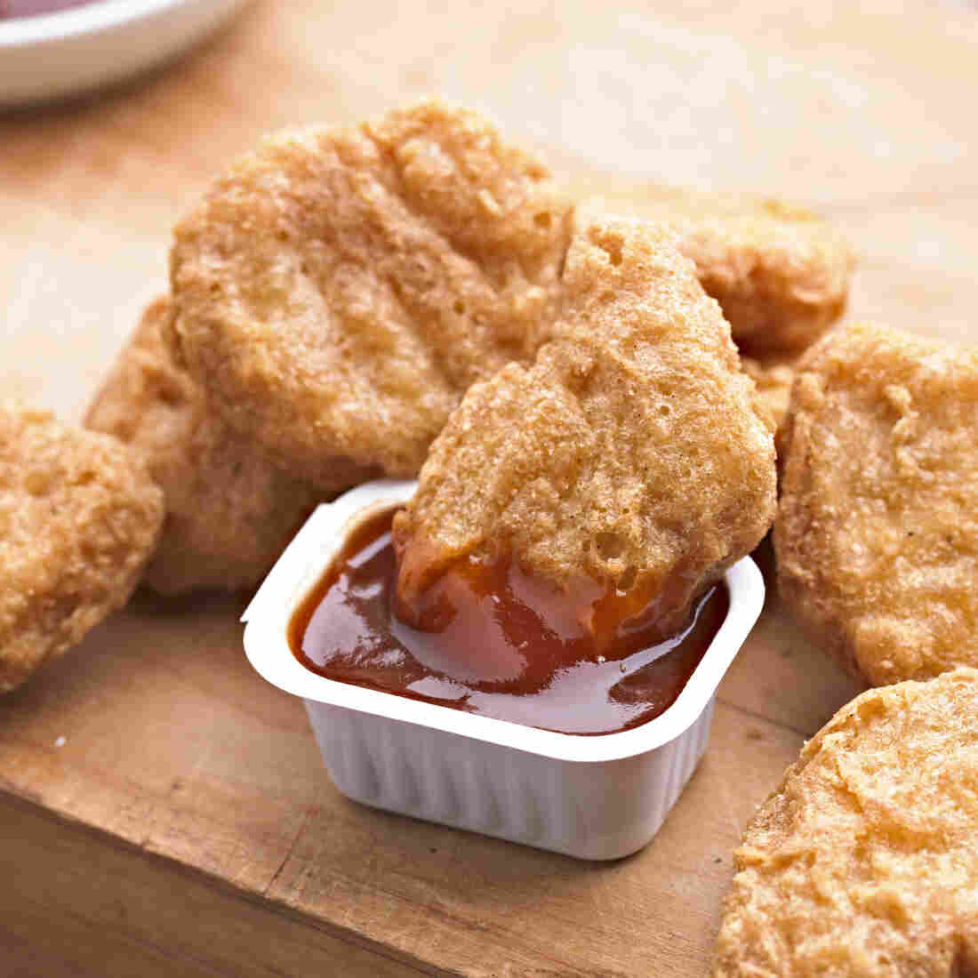 Chicken Nuggets with BBQ Sauce.