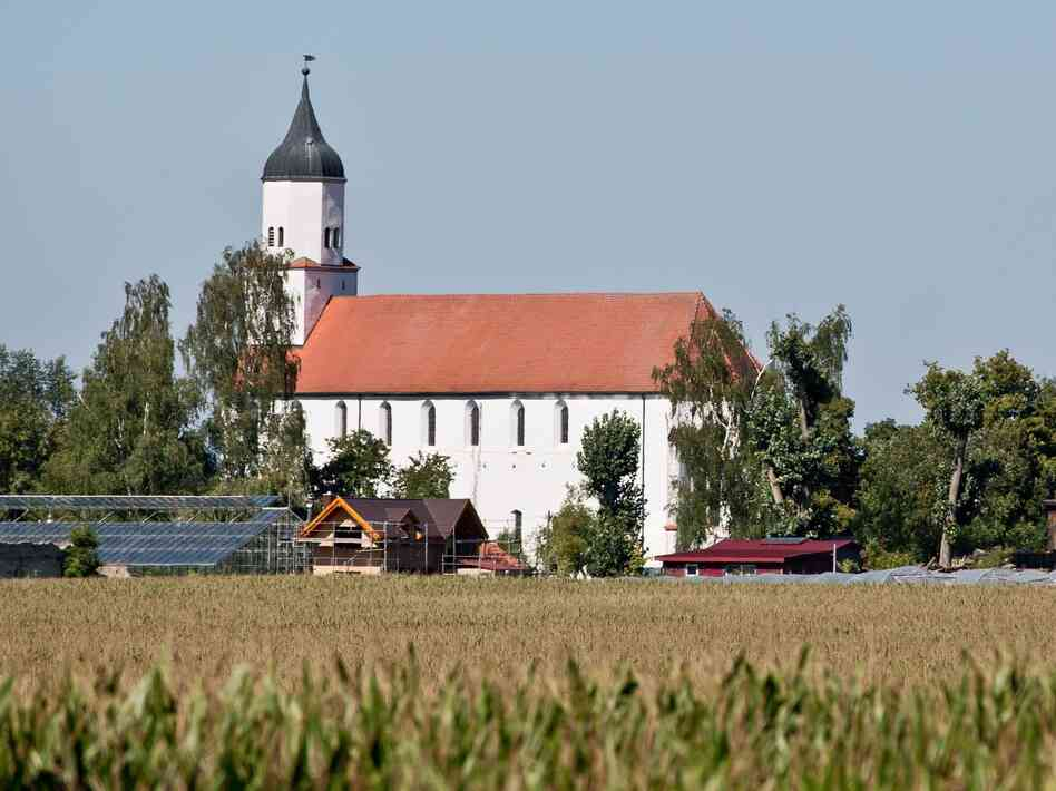 View of the village of Klosterzimmern near Deiningen, Germany on Friday. The village is home to the religious community 'Zwoelf Staemme' ('Twelve Tribes').