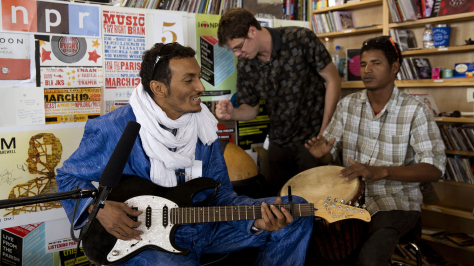 Bombino performs a Tiny Desk Concert on June 19, 2013. (NPR)