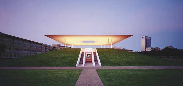 """I want to look at light, rather than have light illuminate another thing,"" says artist James Turrell. ""I'm interested in the thingness of light itself, so that light is the revelation."" Above, Turrell's 2012 work, Twilight Epiphany, in Houston."