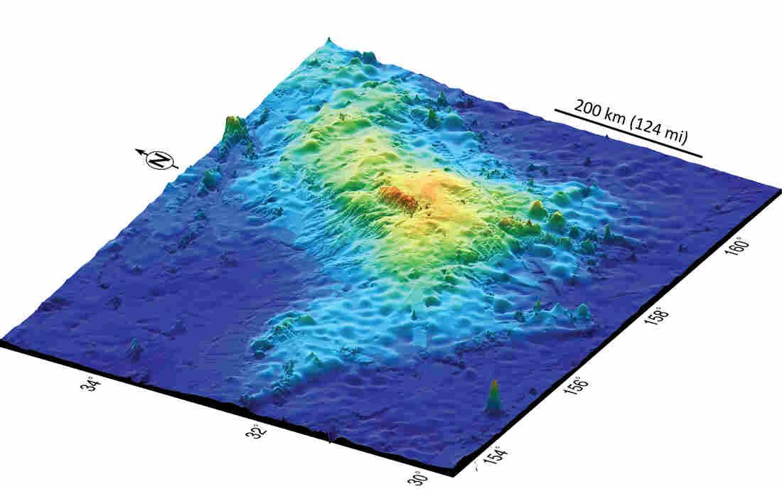 Tamu Massif 3D map