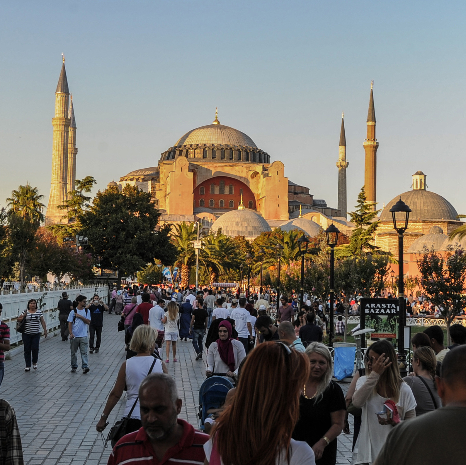 Turkish officials had hoped to bring the 2020 Olympics to Istanbul. Here, the city's Hagia Sophia Museum is seen in the background, with Sultan Ahmed Square in the foreground.