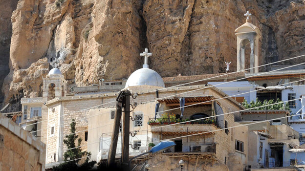 The Greek Orthodox monastery of Mar Takla in the Syrian Christian town of Maaloula is seen on Sept. 7. The town is now controlled by a rebel group with al-Qaida ties.