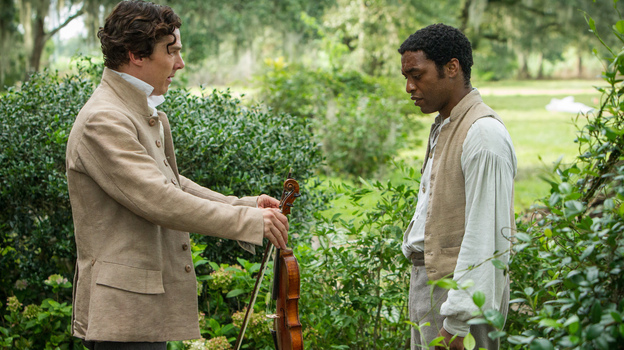 Chiwetel Ejiofor (right) plays Solomon Northup in 12 Years A Slave. Benedict Cumberbatch plays one of the slaveowners who claim ownership of him. (Toronto International Film Festival)