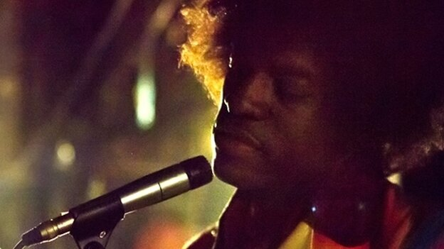 Andre Benjamin in a still from All Is By My Side.