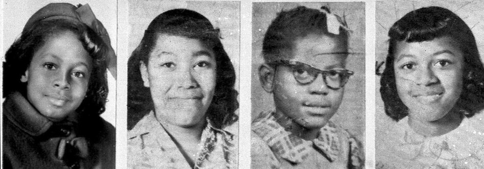 From left, Denise McNair, 11; Carole Robertson, 14; Addie Mae Collins, 14; and Cynthia Wesley, 14, were killed in the bombing of the 16th Street Baptist Church, in Birmingham, Ala., on Sept. 15, 1963. (AP)