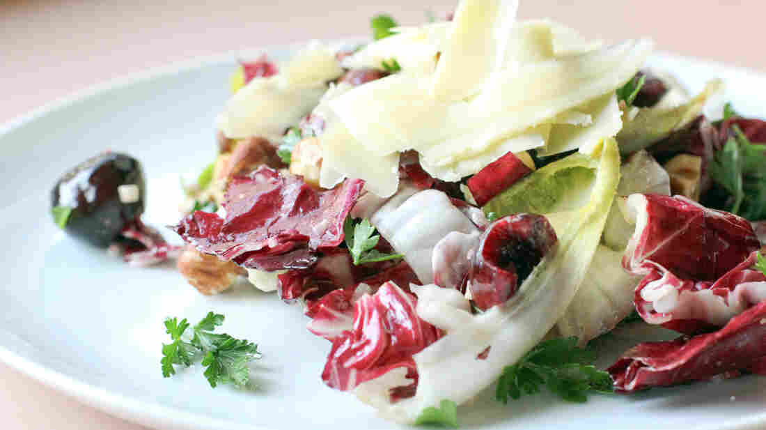 Tri-color Comte, Cherry and Hazelnut Salad