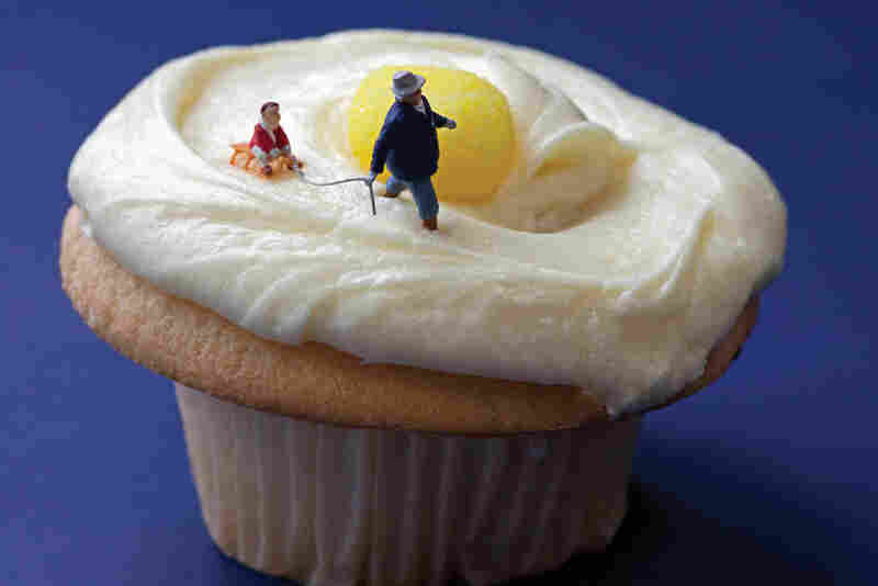 "Lemon Cupcake Sledding: ""It seemed an opportune time to school little Danny on the pitfalls of eating yellow snow."""