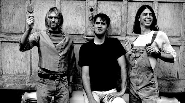 Nirvana in 1993 (from left): Kurt Cobain, Krist Novoselic, Dave Grohl. (Anton Corbijn)
