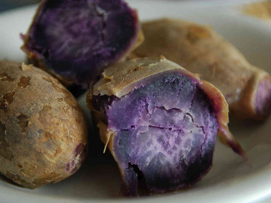 "Food chemists say that pigments from the purple sweet potato are becoming a ""natural"" alternative to synthetic food dye."
