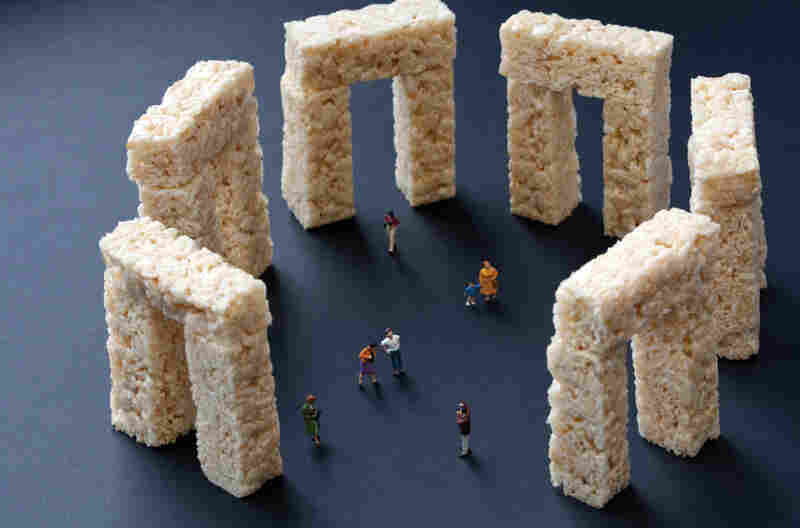 "Rice Krispies Treats Stonehenge: ""Famous landmarks always look different from how they appear in photographs."""