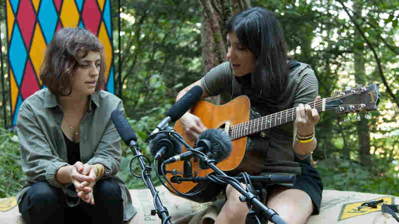 "Sharon Van Etten (right) performs ""Tarifa"" for KEXP."