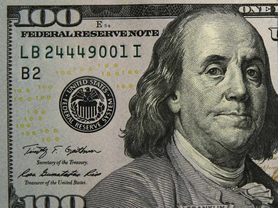 The newly redesigned  100 note  $100 Bill