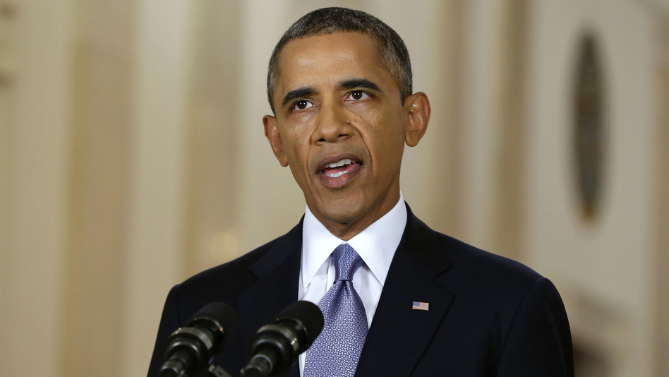 President Obama addresses the nation in a live televised speech from the East Room of the White House on Tuesday. (AP)