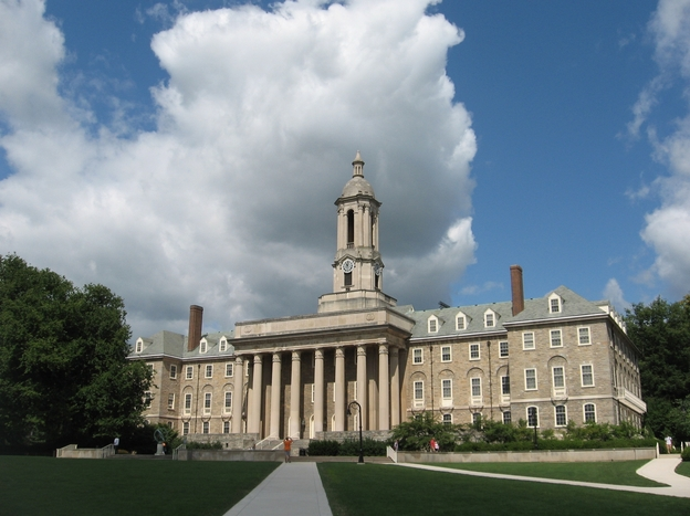 Old Main, the administration building on the campus of Penn State University.