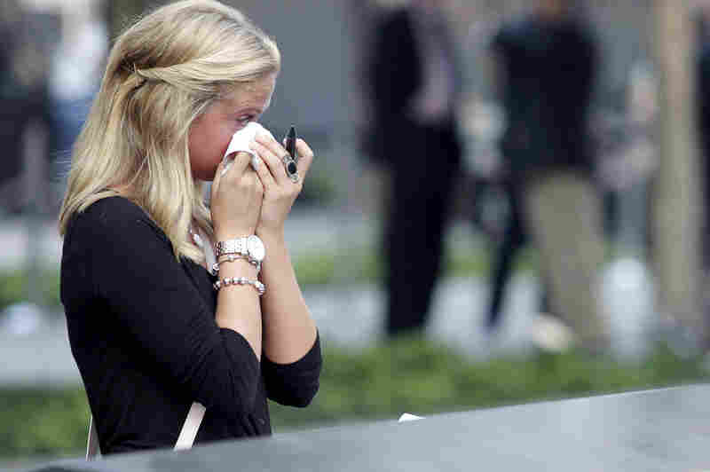 Kayla Fallon , whose father William Fallon died at the World Trade Center when she was 8, visits the 9/11 Memorial.