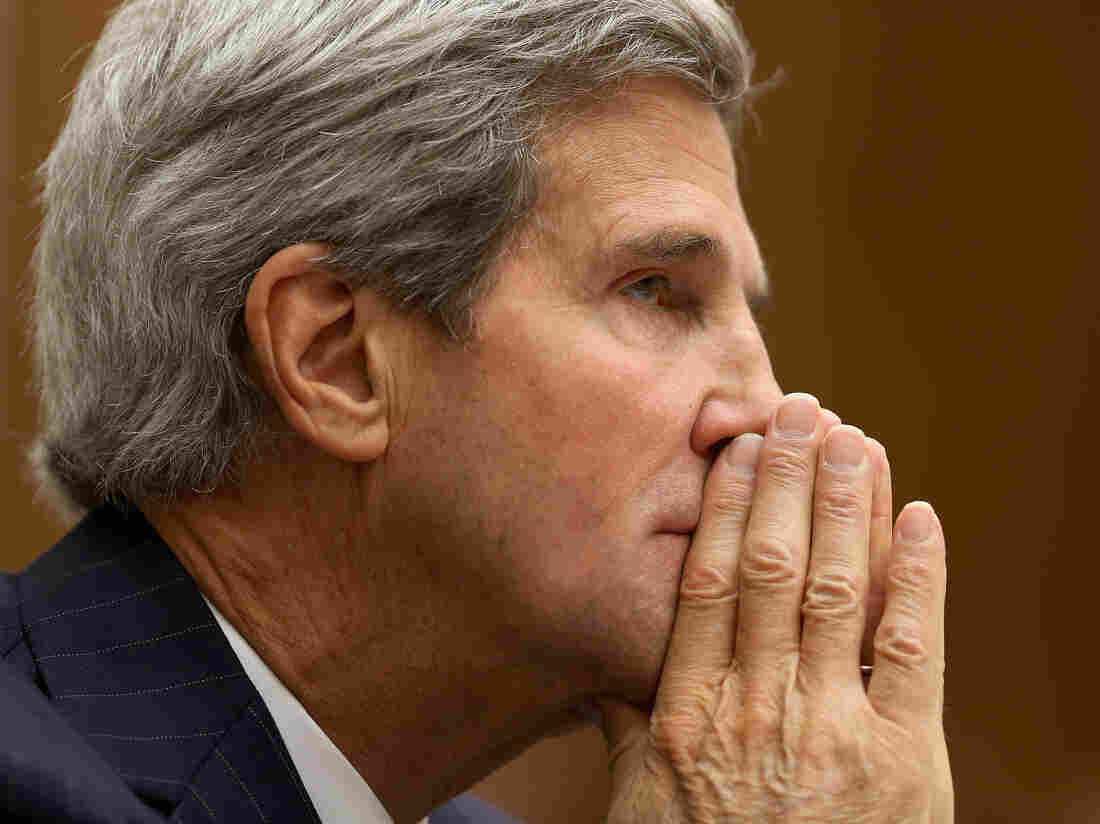 Secretary of State John Kerry on Tuesday as he testified before the House Armed Services Committee.