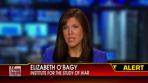 A screen grab of Elizabeth O'Bagy's appearance on Fox News on Sept. 5. She has been on many news programs in recent days commenting on the Syrian war. She was fired on Wednesday for falsely claiming to have a Ph.D., according to her employer, the Institute for the S
