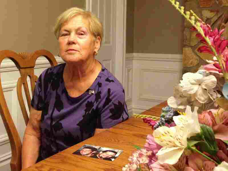 Sandra Grazioso sits at a New Jersey funeral home, where she will receive the newly identified shoulder and tooth of her son, Tim. Both of her sons died in the terrorist attacks.