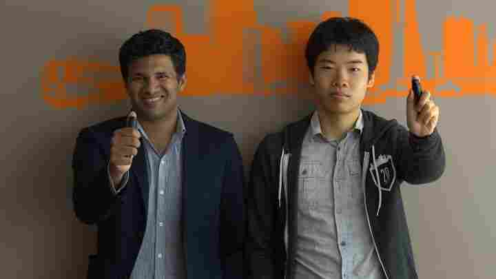 Deven Soni (left) and Ben Yu co-founded Sprayable Energy.