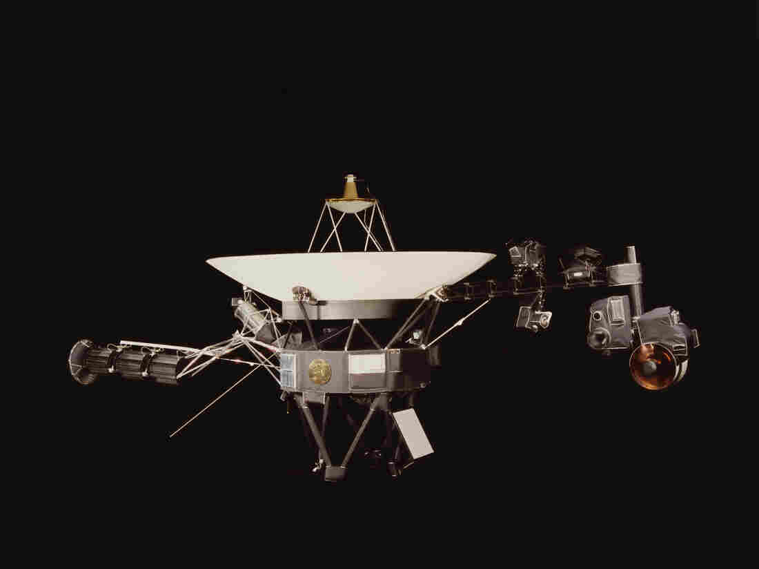 A NASA image of one of the Voyager space probes, launched in 1977 to study the outer solar system and eventually interstellar space.