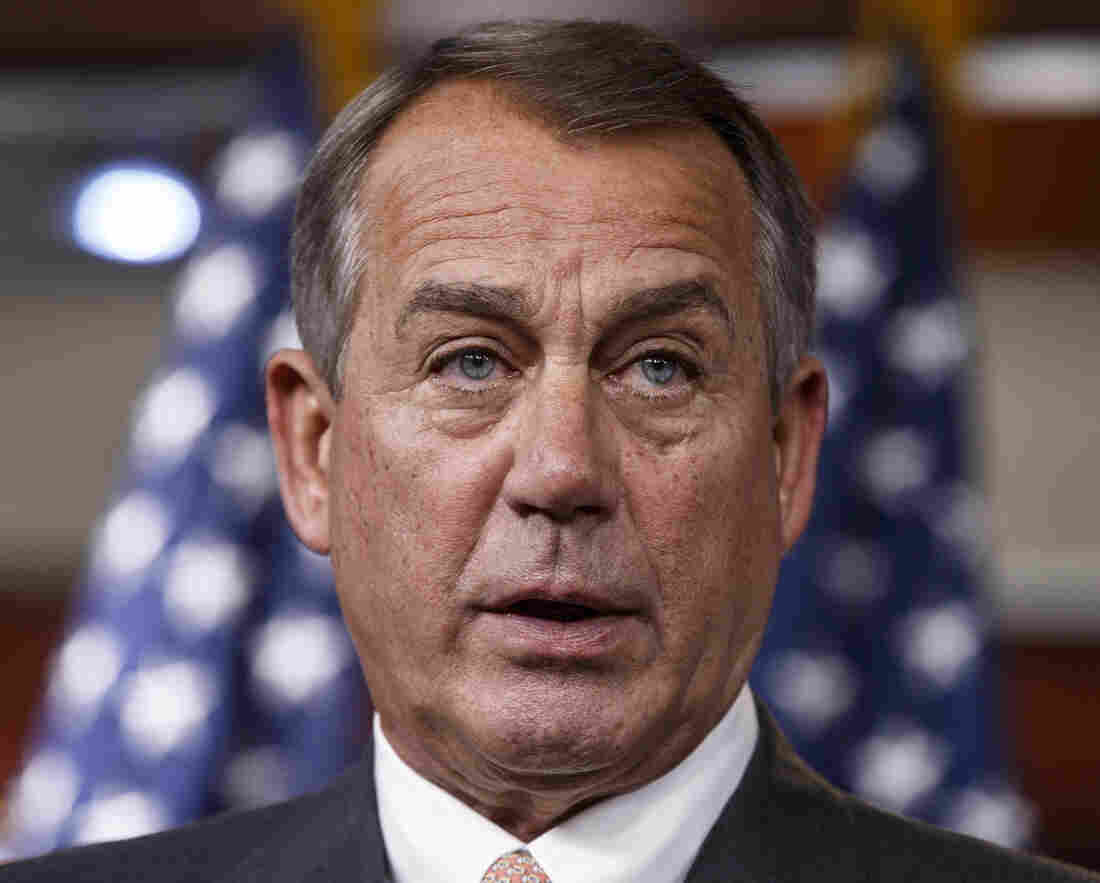 House Speaker John Boehner tried to sound optimistic Thursday that his Republican conference would find a way to avoid a government shutdown.