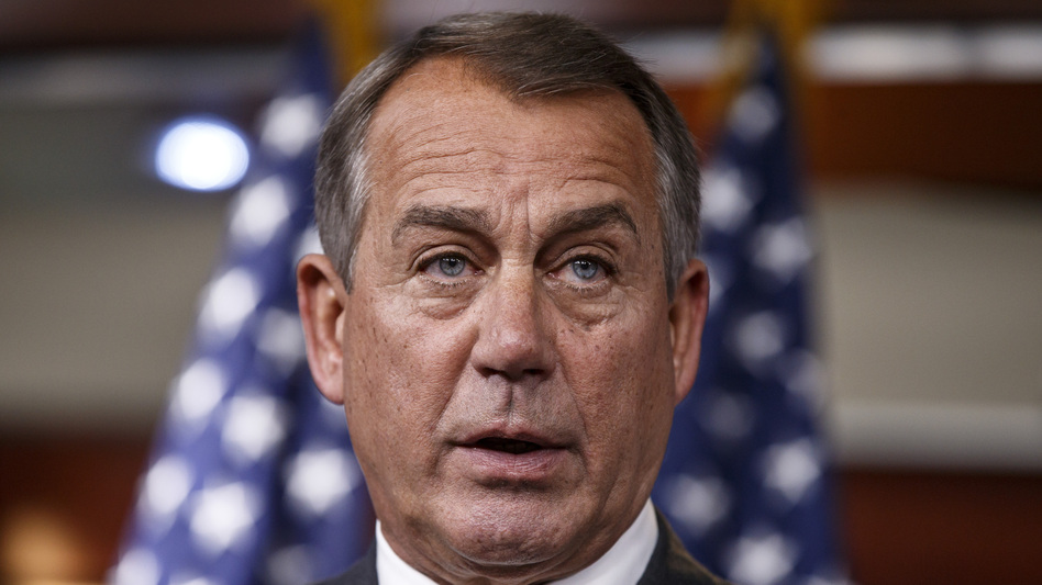 House Speaker John Boehner tried to sound optimistic Thursday that his Republican conference would find a way to avoid a government shutdown. (AP)