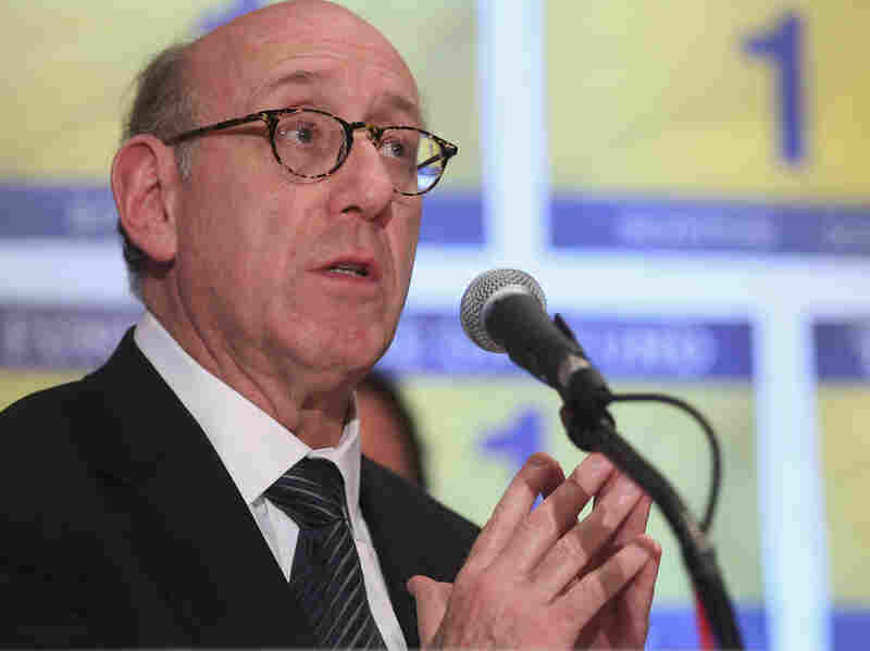 Kenneth Feinberg speaks at a press conference on the One Fund, established for victims of the Boston Marathon bombings.