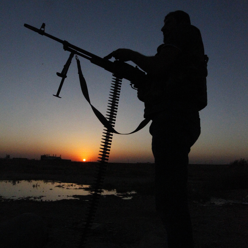 A Free Syrian Army fighter in eastern Syria on Wednesday.