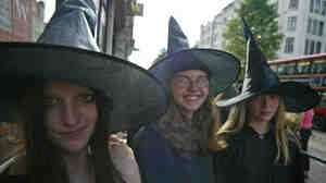 Remember the frenzy when Harry Potter books and movies came out? Fans may be cast under a similar spell now that J.K. Rowling has agreed to write the screenplay for a Potter spinoff. (This 2005 photo was taken in London when the book Harry Potter and the Half-Blood Prince was released.)