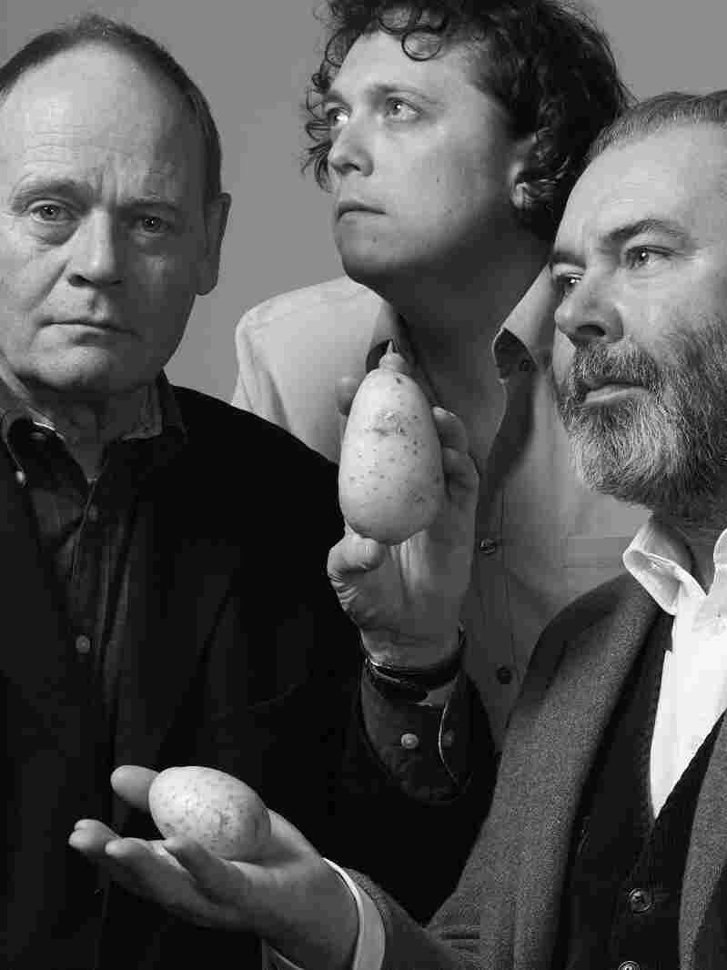 From left: John Lloyd, James Harkin and John Mitchinson dig up interesting information for the BBC quiz show QI.